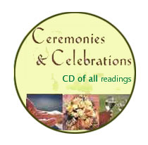 CD of the content of the book, Ceremonies & Celebrations